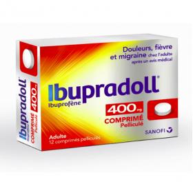 Ibupradoll tabs 400mg 12 comprimés