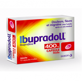 SANOFI Ibupradoll caps 400mg 10 capsules molles