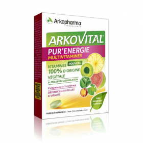 Arkovital pur'énergie multivitamines 30 comprimés