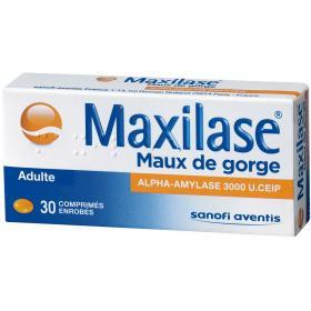 Maxilase maux de gorge 30 comprimés enrobés