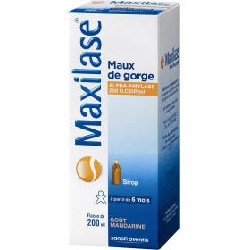 MAXILASE Maux de gorge sirop 200ml