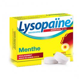BOEHRINGER INGELHEIM Lysopaine maux de gorge ambroxol menthe 20mg 18 pastilles sans sucre