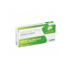 SANDOZ Cétirizine 10 mg 7 comprimés pelliculés sécables