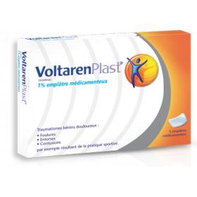 VOLTAREN Plast 1% 5 emplatres médicamenteux