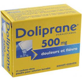 doliprane 500mg 12 sachets m dicaments pharmarket. Black Bedroom Furniture Sets. Home Design Ideas