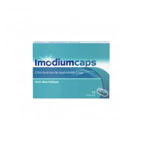 Imodium caps 2 mg 12 gélules