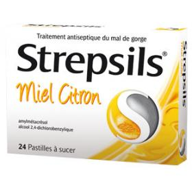 RECKITT BENCKISER Strepsils miel citron 24 pastilles