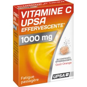 UPSA Vitamine c 1000mg 20 comprimés effervescents
