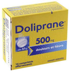 DOLIPRANE 500mg 16 comprimés effervescents
