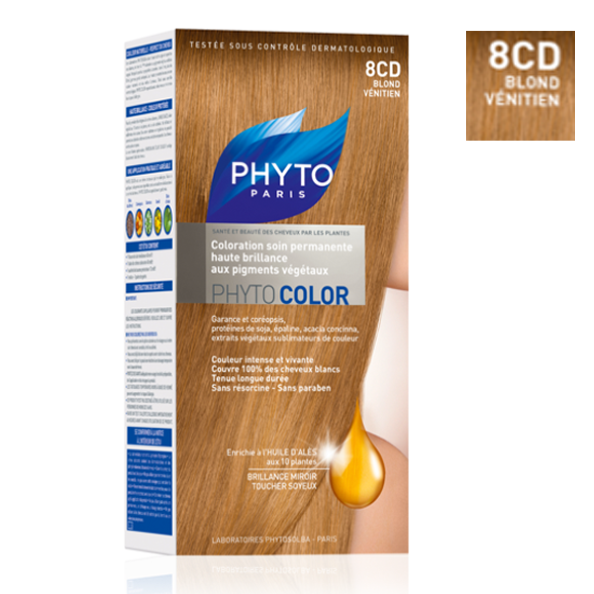 phyto phytocolor coloration permanente 8cd blond v nitien 1 kit parapharmacie pharmarket. Black Bedroom Furniture Sets. Home Design Ideas