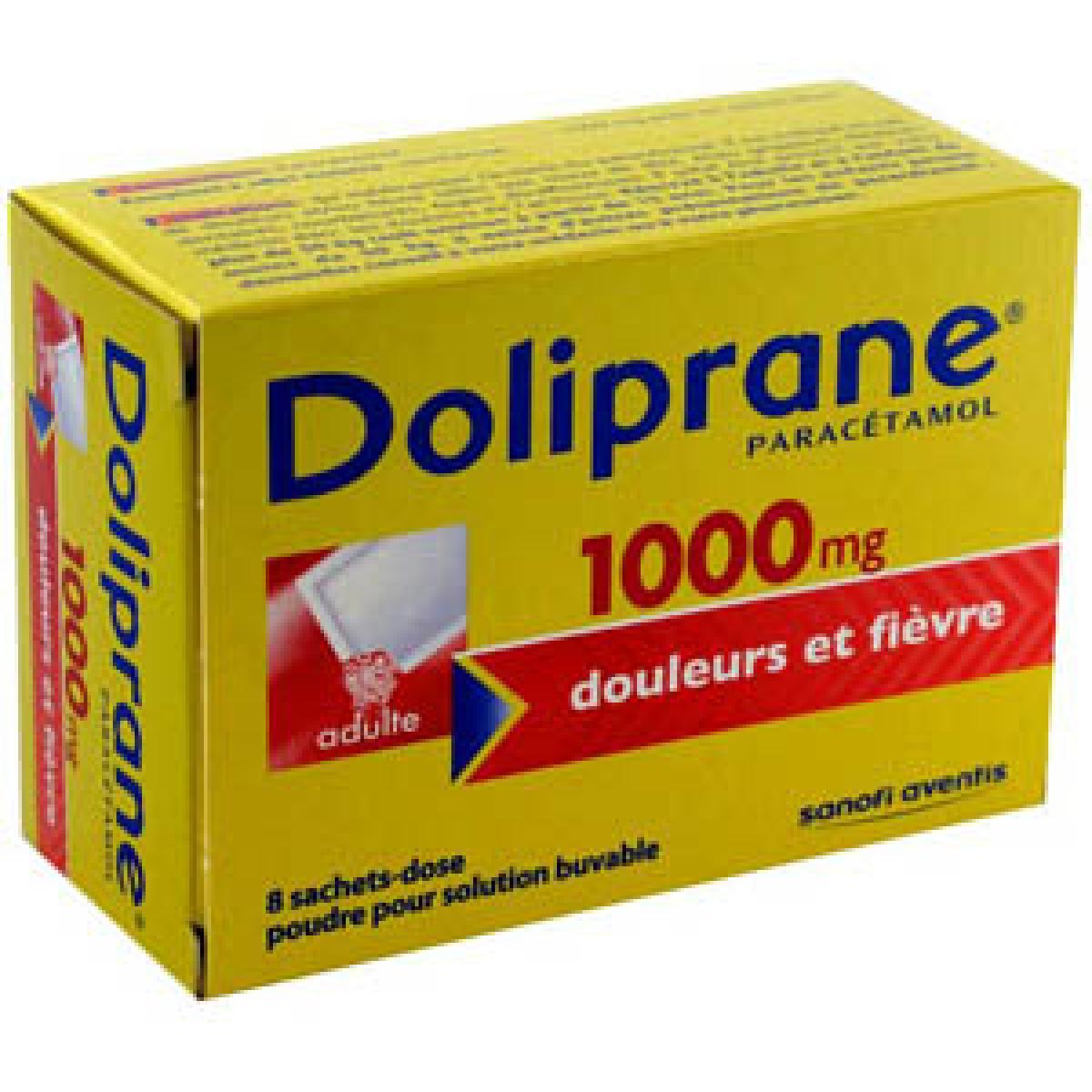 doliprane 1000mg 8 sachets buvables m dicaments pharmarket. Black Bedroom Furniture Sets. Home Design Ideas