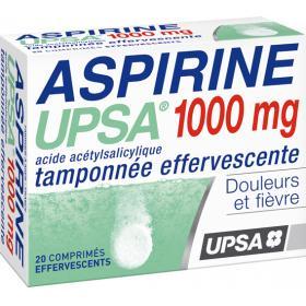 UPSA Aspirine tamponnée effervescente 1000mg 20 comprimés effervescents