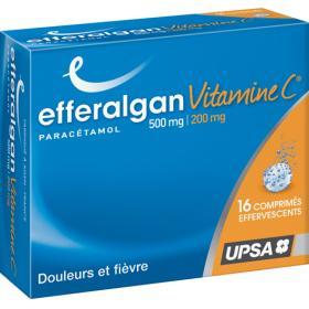 Efferalgan vitamine c 500mg / 200mg 16 comprimés effervescents