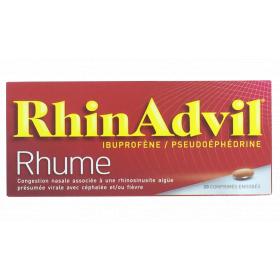 PFIZER Rhinadvil rhume 20 comprimés enrobés