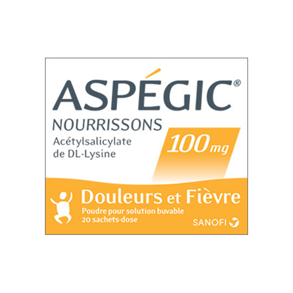asp gic nourrisson 100mg 20 sachets dose dans douleurs fi vre migraine sur pharmarket. Black Bedroom Furniture Sets. Home Design Ideas