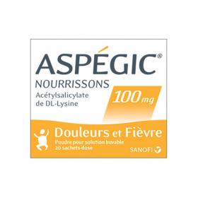 SANOFI Aspégic nourrisson 100mg 20 sachets dose