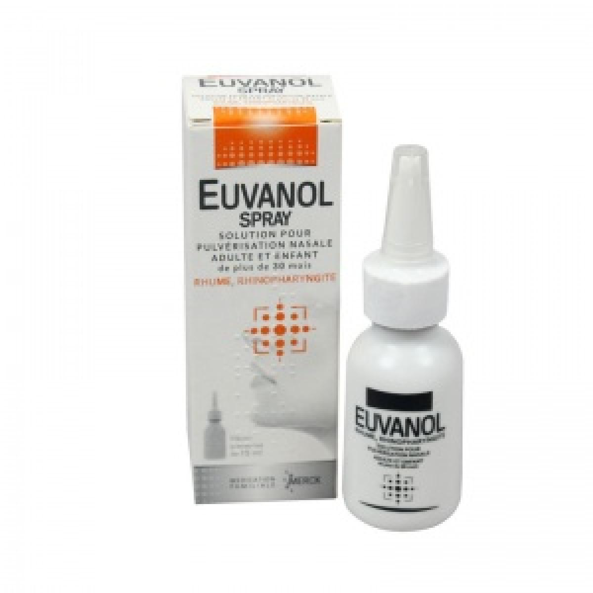 Merck euvanol spray nasale 15ml m dicaments pharmarket for Produit pour cafard pharmacie