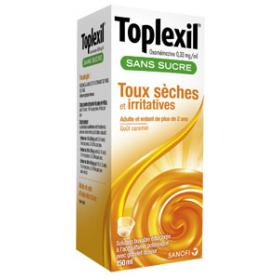 Toplexil 0,33mg/ml sirop sans sucre 150ml