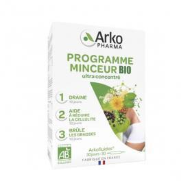 ARKOPHARMA Arkofluides programme minceur bio 3 x 10 ampoules de 15ml