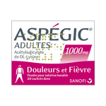 Aspégic adulte 1000mg 20 sachets dose