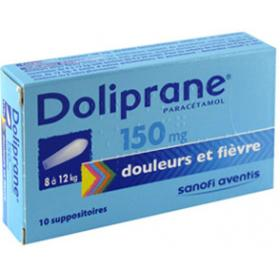 Doliprane 150mg 10 suppositoires