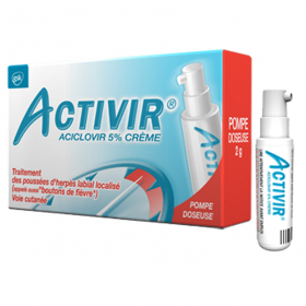 Aciclovir 5% crème pompe doseuse 2g