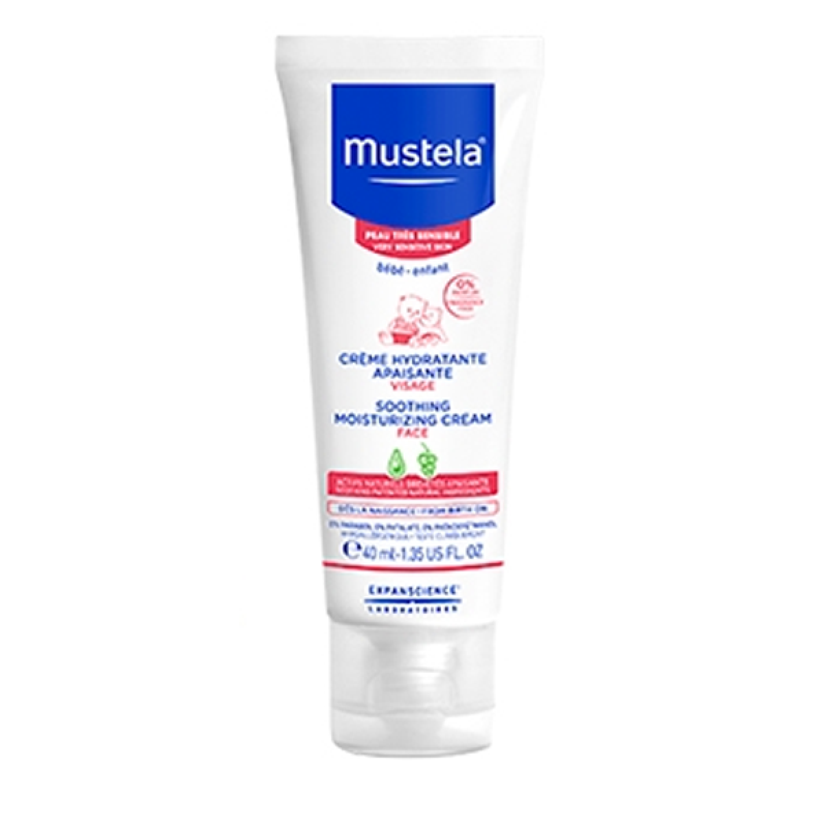mustela b b cr me hydratante apaisante peau tr s sensible 40ml parapharmacie pharmarket. Black Bedroom Furniture Sets. Home Design Ideas