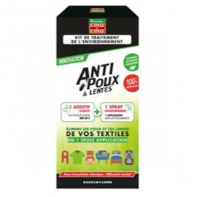 CINQ SUR CINQ Anti-poux et lentes traitement environnement