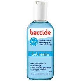 BACCIDE Gel mains antibactérien bleu 75ml