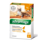 BAYER Advantage 40 chat -4kg 4 pipettes