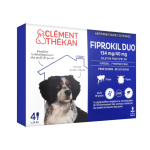 CLÉMENT THÉKAN Fiprokil duo chien 10-20kg 4 pipettes