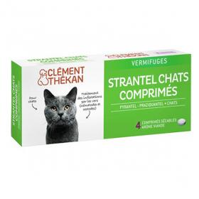 CLÉMENT THÉKAN Strantel chat 4 comprimés