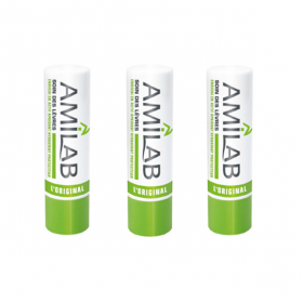 MERCK Amilab stick lèvres lot de 2+1 offert 3.6g