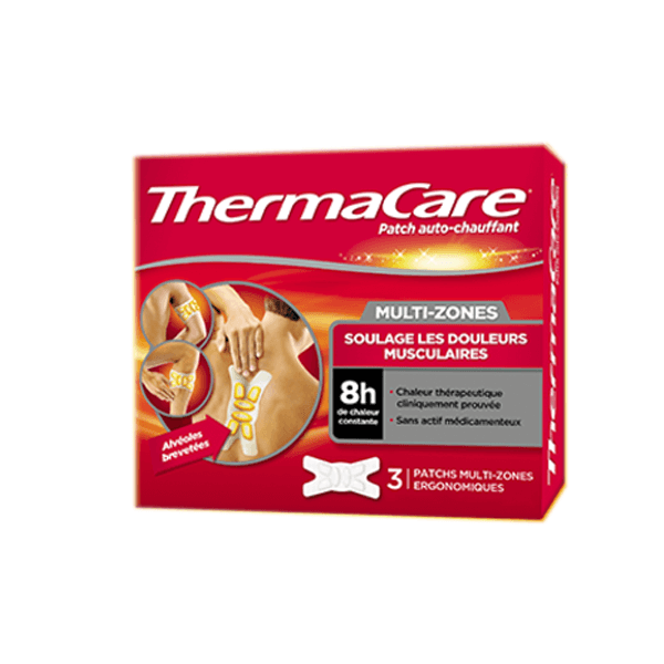 WYETH Thermacare patch multi-zones 3 unités