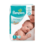 PAMPERS ProCare prenium protection taille 1 38 couches